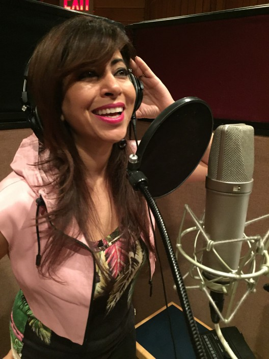 Poonam Kay in the studio
